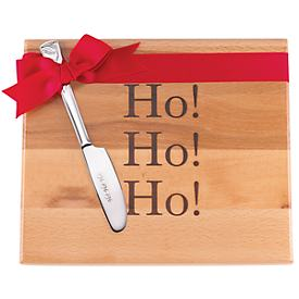 Ho Ho! Ho! Ho! Cutting Board & Holiday Spreader
